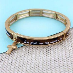 Jewelry - Leopard Serenity Prayer Bracelet.